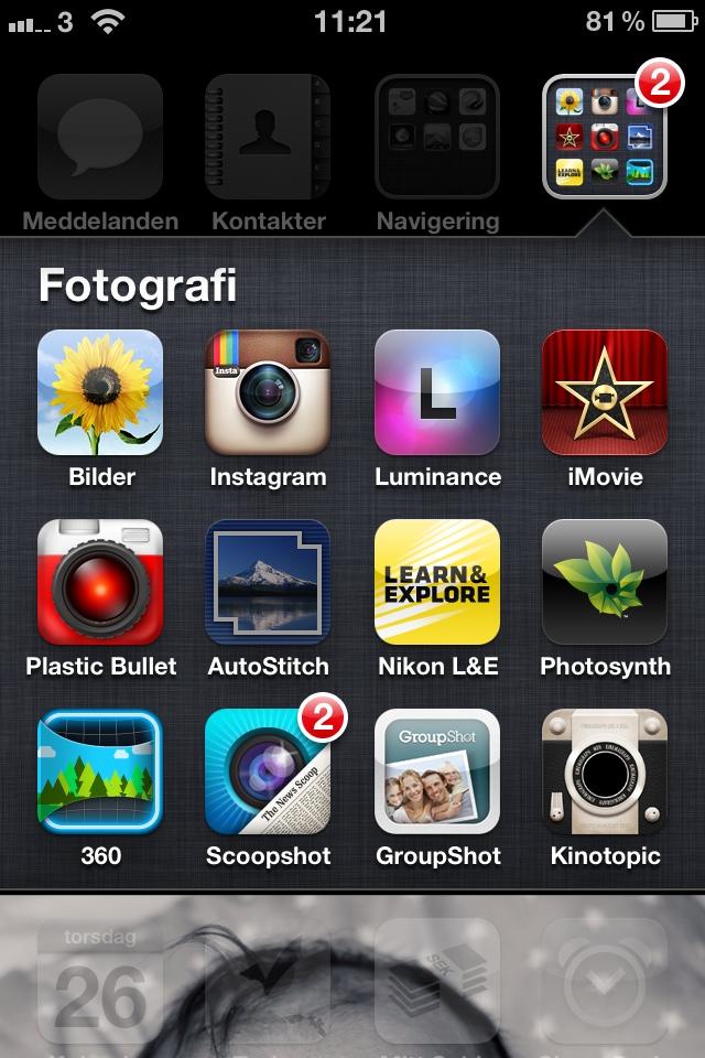 Det finns en rad olika appar för att göra panoraman med sin iPhone. Jag har länge använt AutoStitch som jag tycker fungerar väldigt smidigt. Finns i App Store för 15kr.