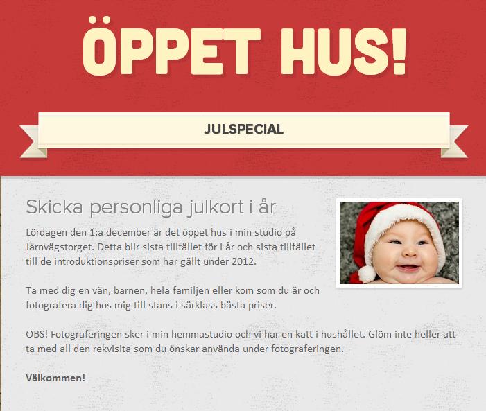 Öppet hus - Julspecial